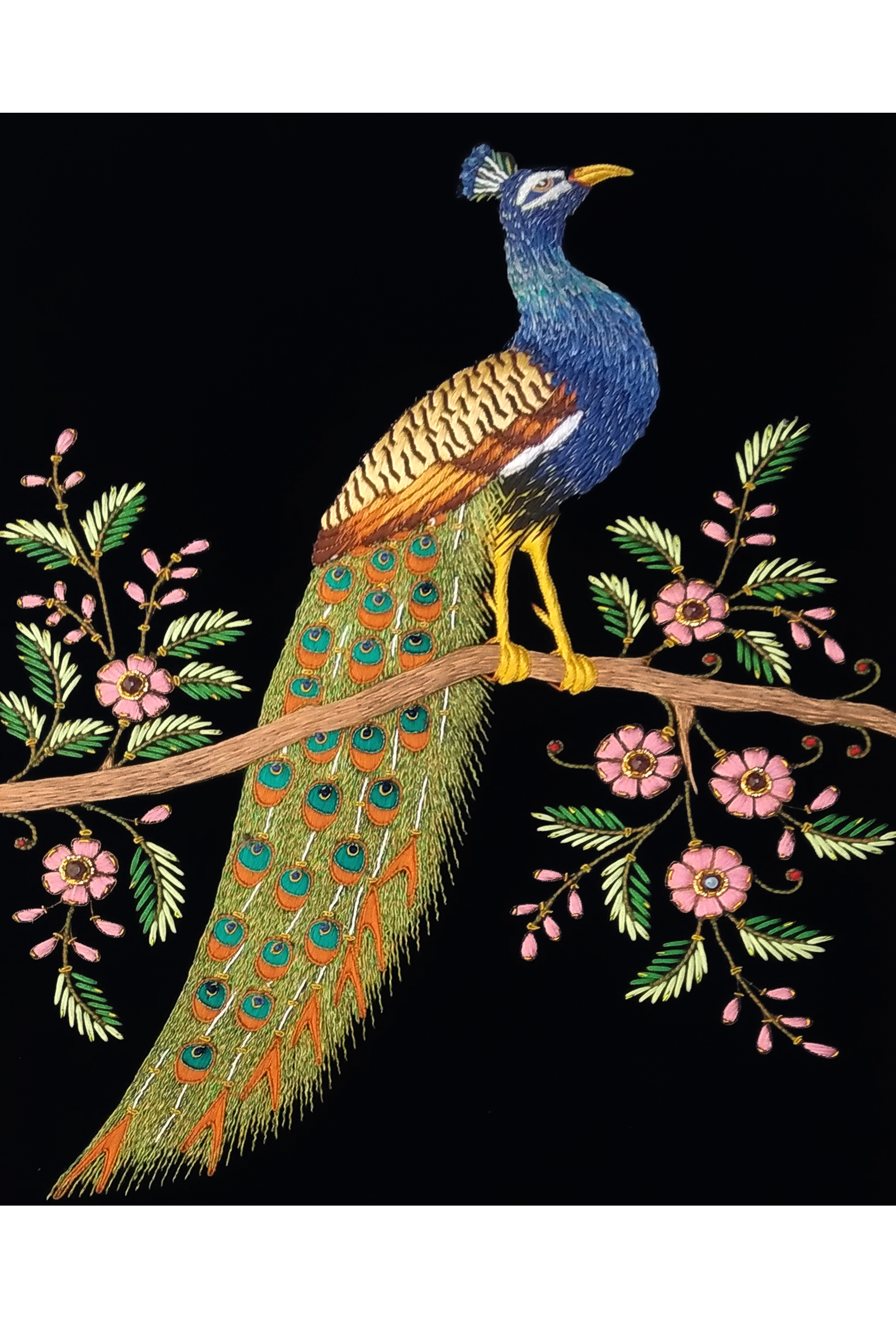PEACOCK HAND EMBROIDERY